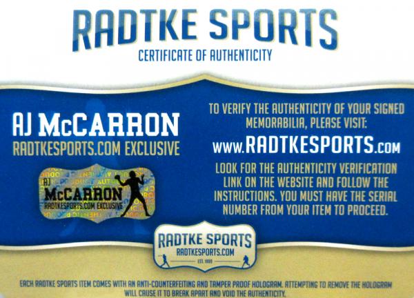 AJ McCarron Signed Alabama Crimson Tide Schutt Full Size NCAA Helmet-5061