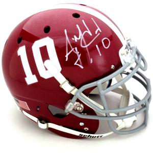 AJ McCarron Signed Alabama Crimson Tide Schutt Authentic NCAA Helmet-0