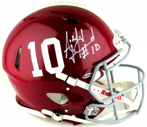 A.J. McCarron Autographed/Signed Alabama Crimson Tide Riddell Authentic Speed NCAA Helmet-0