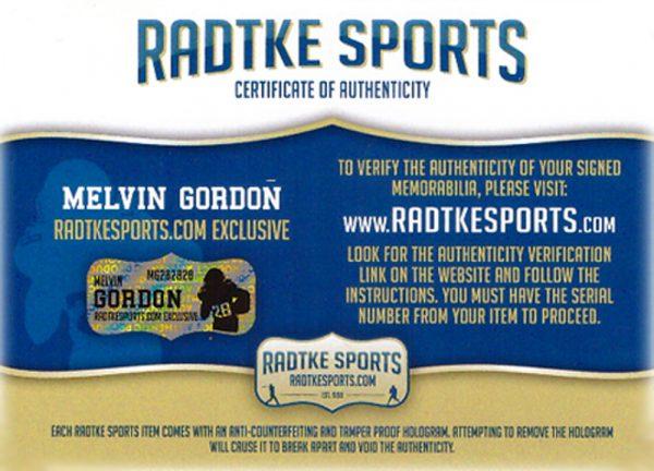 Melvin Gordon & LaDainian Tomlinson Signed Los Angeles Chargers Riddell Full Size NFL Helmet-32417