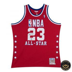 Michael Jordan Signed NBA 1989 Red All Star Jersey-0