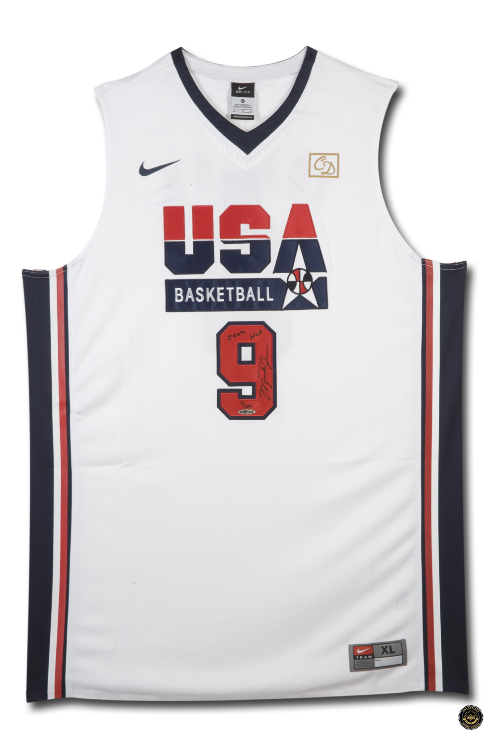 new product e295b 0340c Michael Jordan Signed USA Nike 1992 White Olympic Basketball Jersey with