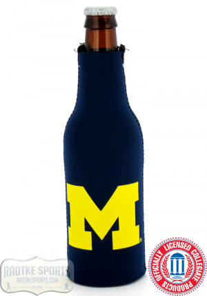 Michigan Wolverines Officially Licensed 12oz Neoprene Bottle Huggie-0