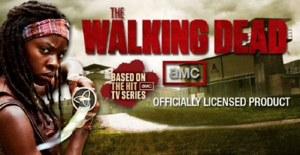 Officially Licensed Walking Dead Michonne Samurai Sword Katana w/ Wall Mount-0