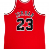 Michael Jordan Signed Chicago Bulls Mitchell & Ness Vintage NBA Basketball Jersey - UDA-9018