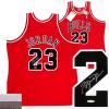 Michael Jordan Signed Chicago Bulls Mitchell & Ness Vintage NBA Basketball Jersey - UDA-0