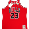 Michael Jordan Signed Chicago Bulls Mitchell & Ness Vintage NBA Basketball Jersey - UDA-9019