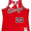 Michael Jordan Signed Chicago Bulls Mitchell & Ness Vintage Rookie Season NBA Basketball Jersey - UDA-9024