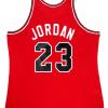 Michael Jordan Signed Chicago Bulls Mitchell & Ness Vintage Rookie Season NBA Basketball Jersey - UDA-9023
