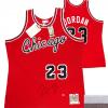 Michael Jordan Signed Chicago Bulls Mitchell & Ness Vintage Rookie Season NBA Basketball Jersey - UDA-0