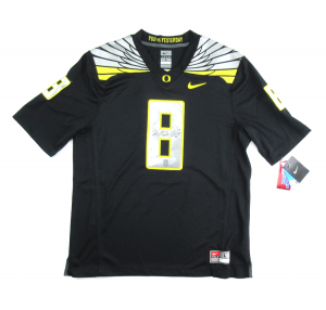 Marcus Mariota Signed NCAA Officially Licensed Oregon Ducks Black Nike Jersey-0
