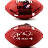 "Joe Montana Autographed/Signed San Francisco 49ers Throwback Authentic Super Bowl 23 NFL Football with ""SB XXIII Champs"" Inscription-0"