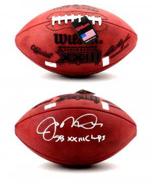 "Joe Montana Autographed/Signed San Francisco 49ers Throwback Authentic Super Bowl 23 NFL Football with ""SB XXIII Champs"" Inscription-0"