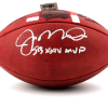 "Joe Montana Autographed/Signed San Francisco 49ers Throwback Authentic Super Bowl 24 NFL Football with ""SB XXIV MVP"" Inscription-498"