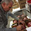 "Joe Montana Autographed/Signed San Francisco 49ers Throwback Authentic Super Bowl 24 NFL Football with ""SB XXIV MVP"" Inscription-496"