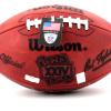 "Joe Montana Autographed/Signed San Francisco 49ers Throwback Authentic Super Bowl 24 NFL Football with ""SB XXIV MVP"" Inscription-499"