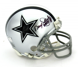 "Daryl Moose Johnston Signed Dallas Cowboys Mini Helmet with ""Moose"" Inscription-0"