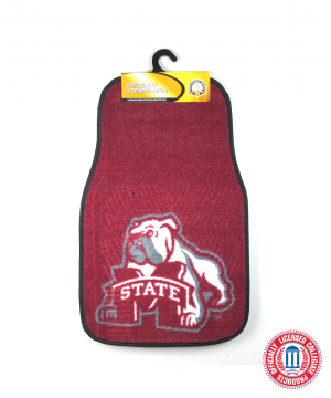 Mississippi State Bulldogs Officially Licensed 17x27 Carpet NCAA Car Mats Set-0