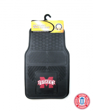 Mississippi State Bulldogs Officially Licensed 17x27 Heavy Duty Vinyl NCAA Car Mats Set-0