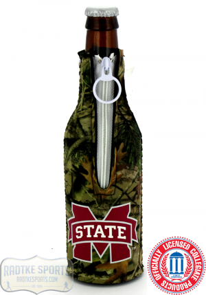 Mississippi State Bulldogs Officially Licensed 12oz Neoprene Bottle Huggie - Camo-0
