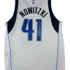 Dirk Nowitzki Signed Dallas Mavericks White 2014 Adidas Swingman NBA Jersey - Panini-9105