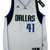 Dirk Nowitzki Signed Dallas Mavericks White 2014 Adidas Swingman NBA Jersey - Panini-9109