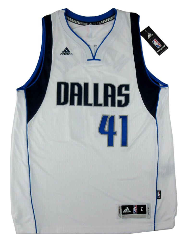 05e004346e9cc Dirk Nowitzki Signed Dallas Mavericks White 2014 Adidas Swingman NBA Jersey  - Panini