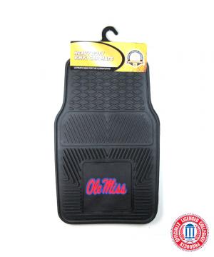 Ole Miss Rebels Officially Licensed 17x27 Heavy Duty Vinyl NCAA Car Mats Set-0