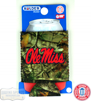 Ole Miss Rebels Officially Licensed 12oz Neoprene Can Koozie - Camo-0