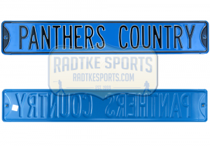 Carolina Panthers Country Officially Licensed Authentic Steel 36x6 Blue & Black NFL Street Sign-0