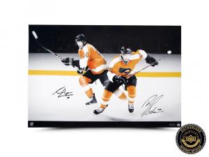 Brayden Schenn & Sean Couturier Signed Photo - Philadelphia Flyers-0