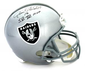 """Jim Plunkett Signed Oakland Raiders Riddell Full Size NFL Helmet With """"SB XV MVP"""" Inscription-0"""