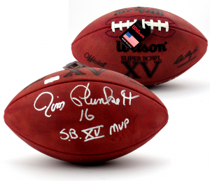 "Jim Plunkett Signed Wilson Authentic Super Bowl XV NFL Football with ""SB XV MVP"" Inscription-0"