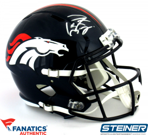 Peyton Manning Signed Denver Broncos Riddell Speed Full Size NFL Helmet - Steiner & Fanatics-0