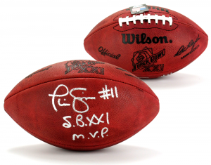 """Phil Simms Signed Wilson Authentic Super Bowl 21 NFL Football with """"SB XXI MVP"""" Inscription …-0"""