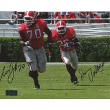 "Danny Ware & Nick Jones Autographed/Signed Georgia Bulldogs 8x10 NCAA Photo ""Running""-0"