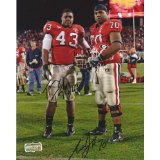 "Tony Taylor & Nick Jones Autographed/Signed Classic Georgia Bulldogs 8x10 NCAA Photo ""Red Jersey""-0"