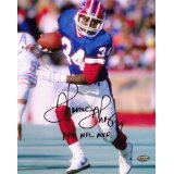 Thurman Thomas Autographed/Signed Buffalo Bills 8x10 NFL Photo with 1991 NFL MVP Inscription-0