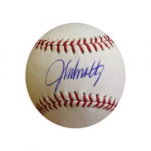 John Smoltz Autographed/Signed Official Rawlings Major League Baseball-0