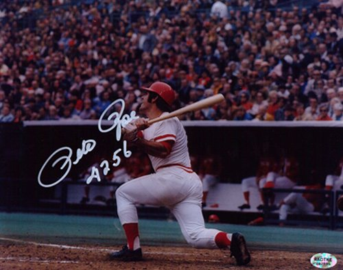 Pete Rose Autographed/Signed Cincinnati Reds 8x10 MLB Photo Hit King 4256-0