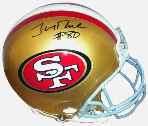 Jerry Rice Signed San Francisco 49ers Full Size NFL Speed Helmet-31174