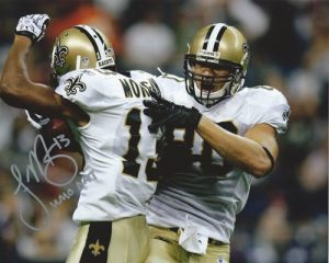 Joseph Morgan Autographed/Signed New Orleans Saints 8x10 NFL Photo with Who Dat Inscription-0