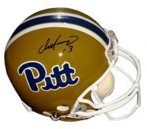 Dan Marino Autographed/Signed Pittsburgh Panthers Riddell Authentic NCAA Helmet-0