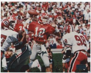 John Lastinger Autographed/Signed Classic Georgia Bulldogs 8x10 NCAA Photo Throwing-0