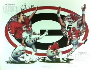 Kevin Butler, Jim Broadway & Rex Robinson Multi-Autographed/Signed Georgia Bulldogs Kicking Legends 16x20 Limited Edition of 2000 Print-0