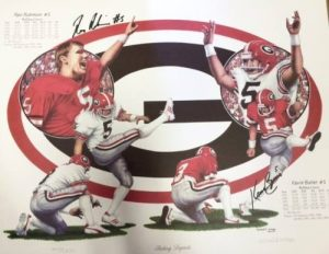 Kevin Butler &amp Rex Robinson Multi-Autographed/Signed Georgia Bulldogs Kicking Legends 16x20 Limited Edition of 2000 Print-0