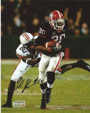 Kelin Johnson Autographed/Signed Classic Georgia Bulldogs 8x10 NCAA Photo Black Jersey-0