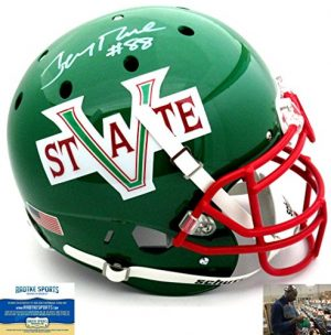 Jerry Rice Autographed/Signed Mississippi Valley State Delta Devils Schutt Authentic NCAA Helmet-0
