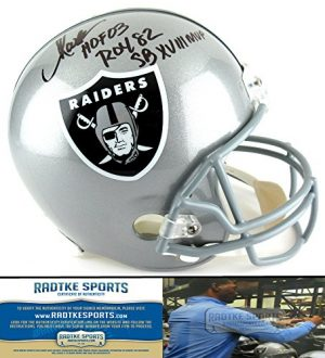 "Marcus Allen Autographed/Signed Oakland Raiders Riddell Full Size NFL Helmet with ""HOF 03 - ROY 82 - SB XVIII MVP"" Inscriptions-0"