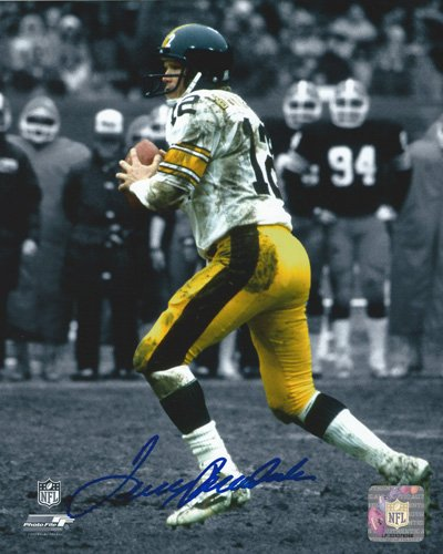 """Terry Bradshaw Autographed/Signed Pittsburgh Steelers 8x10 NFL Photo """"Blue Ink""""-0"""